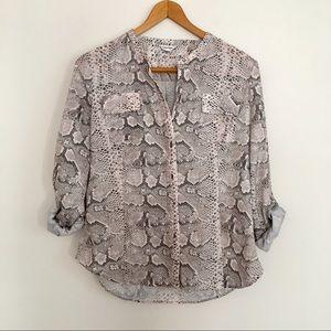 Calvin Klein snakeskin blouse